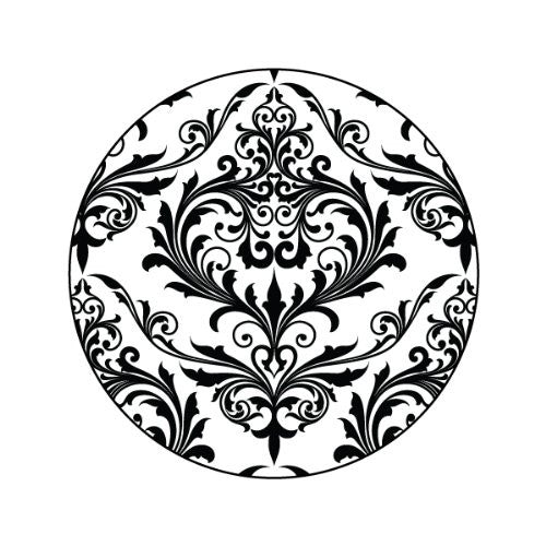 ORNATE BLACK ON WHITE Decorative Bathroom Sink Stopper Toppers