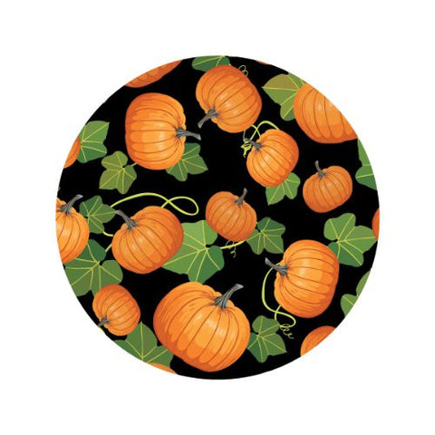 PUMPKIN VINE ON BLACK Decorative Bathroom Sink Stopper Toppers