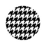 BLACK AND WHITE HOUNDSTOOTH Decorative Bathroom Sink Stopper Toppers