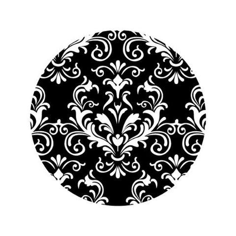 ORNATE WHITE ON BLACK Decorative Bathroom Sink Stopper Toppers