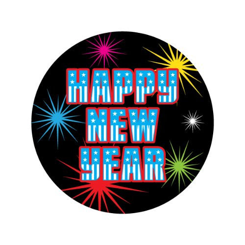 HAPPY NEW YEAR FIREWORKS Decorative Bathroom Sink Stopper Toppers