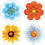 FLOWER Collection Decorative Bathroom Sink Stopper Toppers