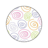 PASTEL SWIRLS Decorative Bathroom Sink Stopper Toppers
