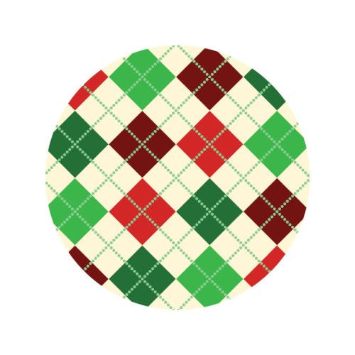 CHRISTMAS TARTAN Decorative Bathroom Sink Stopper Toppers