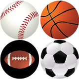 SPORTS Collection Decorative Bathroom Sink Stopper Toppers