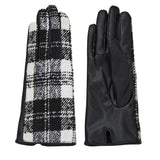 Mud Pie Womens Womens Tartan Plaid Winter Driving Gloves