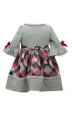 Bonnie Jean Ruffle Sleeve Fall Buffalo Check Apple Girls Babydoll Dress