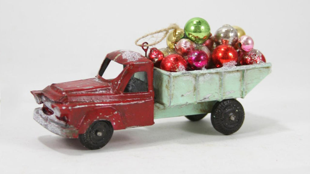 Cody Foster Retro Dump Truck Carrying Load of Christmas Ball Ornaments