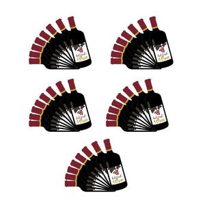 But First Wine Bottle Shape Bev Hand Paper Guest Towel Napkin Set of 40