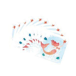 Mermaid in Ocean Sea Life Party Luncheon Napkins Set 40 Ct
