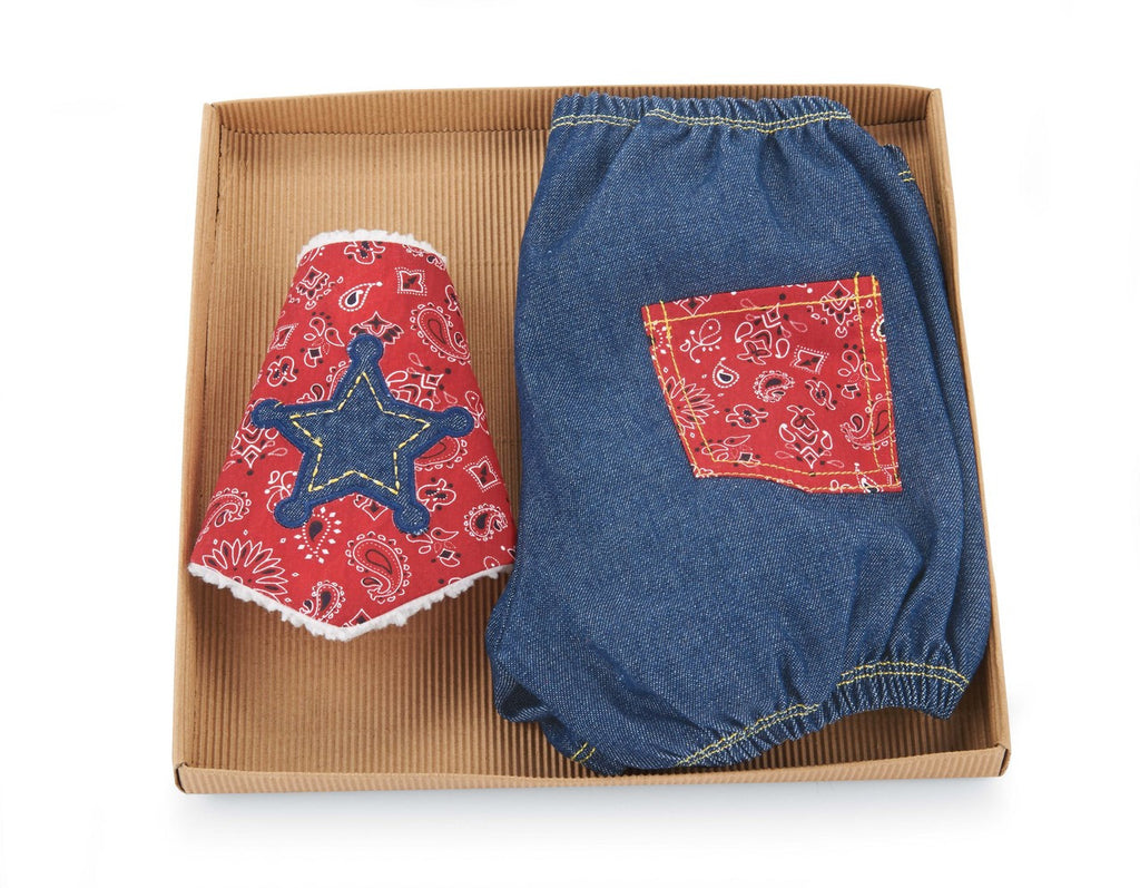 Mud Pie Baby Wild West Diaper Cover and Bandana Bib Set