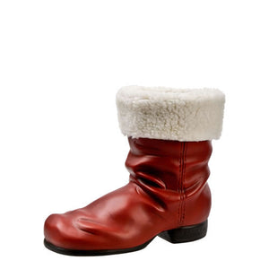 "Marolin Paper Mache Red White St Nicholas Santa Boot with Brim 6.30"" Figure"