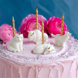 Glitterville Unicorn Woodland Animals Birthday Cake Cupcake Set of 4