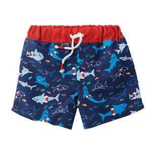 Mud Pie Kids Boys Pirate Treasures All Over Shark Print Swim Trunks