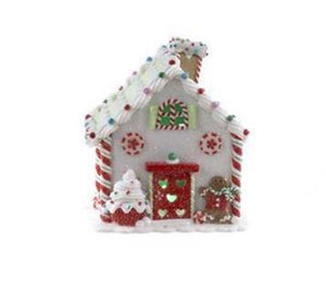Kurt Adler Green Gingerbread LED Lighted House Polymer Christmas Decor