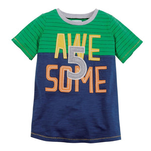 Mud Pie Kids Boys 5th Birthday 5 Awesome Party T-Shirt