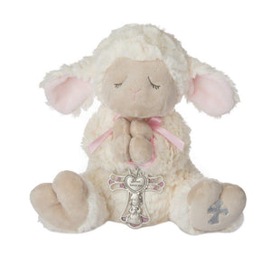 Mid West Serenity Lamb w/ Pink Crib Cross