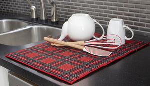 Christmas Holiday Red and Green Tartan Plaid Kitchen Decor