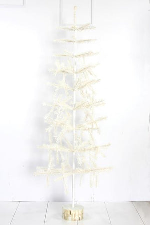 "Cody Foster 60"" White Tabletop Christmas Holiday Feather Tree"