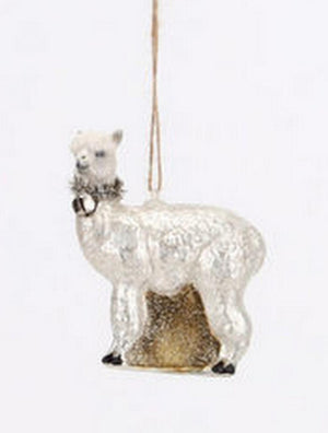 180 Degrees Mexican LLama Color Glass Christmas Ornament