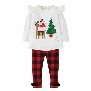 Mud Pie Kids Alpine Village Reindeer Mouse Christmas Tunic Legging Set