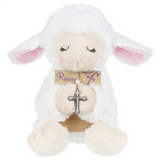 Ganz Christening Plush Lamb with Rosary Beads Cross