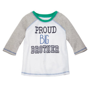 Mud Pie Kids Proud Big Brother Raglan Jersey T-Shirt
