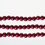 Christmas Tree Holiday Garland Burgundy Round Wood Beads, 9' Length, Set of 3