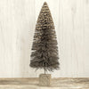"Ragon House Aged Grey Glitter Silver Bottle Brush 16"" Christmas Tree"
