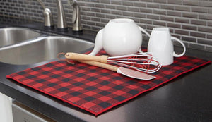 Farmhouse Red Black Buffalo Check Kitchen Decor Mitts 14 99 Size 2 Oven 3 Tea Towels Dish Drying Mat 15 X 20 Boot 40 24 48 28 21 Usd 22