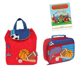Stephen Joseph Kids Preschool Quilted Backpack Lunchbox Set