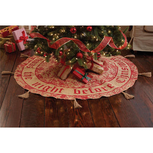 "Mud Pie ""Twas the Night Before Christmas"" Burlap Christmas Tree Skirt, 58"" Wide"