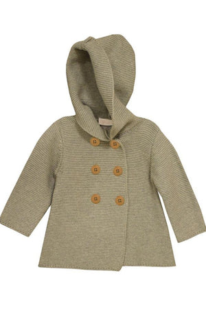 Bonnie Jean Baby Girls Gray Hooded Coatigan Sweater Jacket