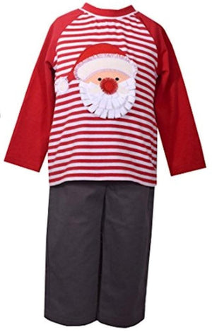 Bonnie Jean Boys Baby Christmas Santa Shirt and Pants Set