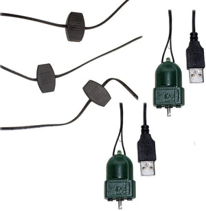 Kurt Adler LED USB Extension Cord and 2 Christmas Ornament Spinners