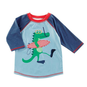 Mud Pie Kids Boys Marco Polo Collection Alligator Rash Guard