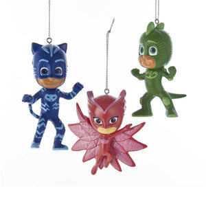 Kurt Adler P J PJ Masks Disney Catboy Gekko Owlette Christmas Ornament Set of 3