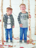 "Mud Pie Kids ""Nothing But Trouble"" Camo Boys Tee Shirt for Fall"