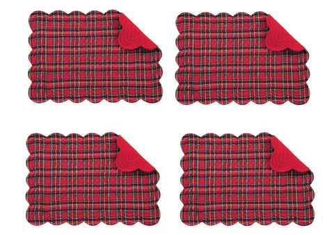 C & F Quilted Products Cassidy Collection Cloth Napkins-Set of 4