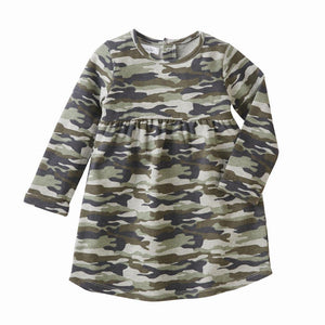 Mud Pie Kids Girls Camo Camouflage Print Casual Dress