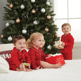 Mud Pie Kids Classic Christmas Baby 1 Pc Red Flannel Pajamas PJs