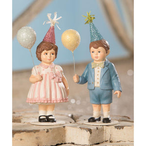 "Bethany Lowe Easter Party Boy and Girl Kids 5.5"" Figure Set"