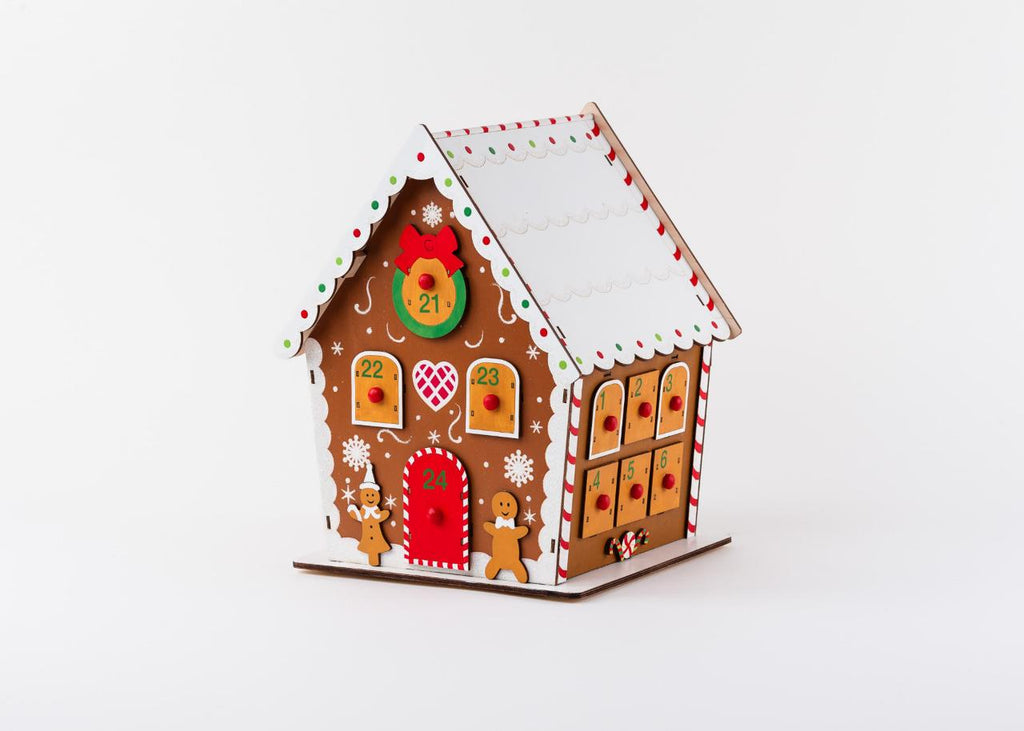 180 Degrees  Gingerbread House Rotating Advent Christmas Countdown Calendar