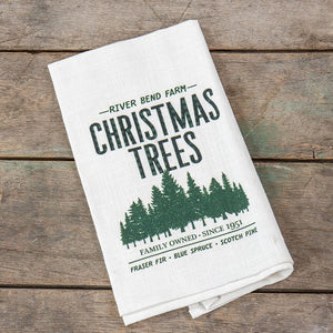 "Ragon House ""River Bend Christmas Tree Farm"" Kitchen Country Towel"