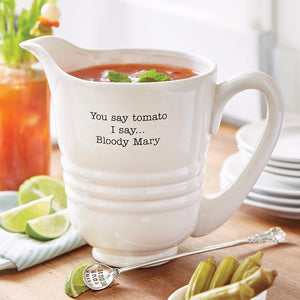 Mud Pie Circa Brunch Collection Bloody Mary Drink Serving Pitcher 8O Oz