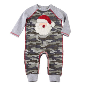 Mud Pie Kids Baby Santa Camo Christmas 1 Pc Boys Outfit Set