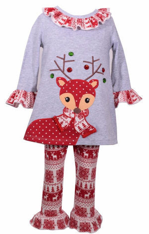 Bonnie Jean Tunic and Legging Set Nordic Reindeer Design