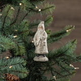 Ragon House Snowy White Santa with Side Bag Christmas Ornament