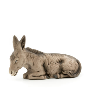"Marolin Paper Mache Gray Sitting Donkey 3.5"" Mini Nativity Figure"