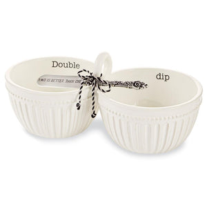 "Mud Pie Home ""Double Dip"" Circa Sectional Serving Bowl Spreader Set"